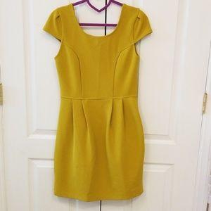 Bar III mustard yellow dress NWT